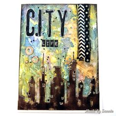 Made by Sannie: Rainbow City Life card - #sssmchallenge - This weeks theme is Rainbows, and we are also showcasing @timholtz products at @Simonsaysstamp Monday Challenge!