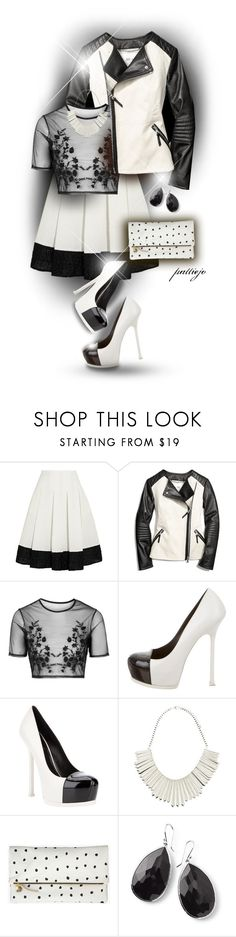 """Black Coffee with cream"" by rockreborn on Polyvore featuring Erdem, Coach, Topshop, Yves Saint Laurent, Forever New, Clare V., Ippolita, polyvorecommunity, polyvoreeditorial and stylingideas"