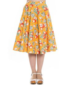 Hell Bunny Somerset 50s Style Apple Circular Jive Skirt
