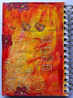 art journal, mixed media