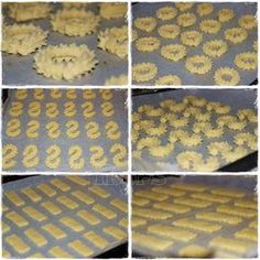 Spritzgebäck 250 g Butter (!!!) 250 g Zucker 500 g Mehl ½ Pck. Backpulver 1 Ei 2 Eigelb 1 TL Vanillezauber Rezept KLI...