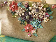 Flower-basket inspired purse