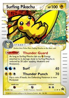 Surfing Pikachu by aschefield101.deviantart.com on @deviantART