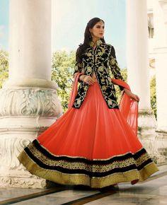 Latest Awesome Indo Western Lehenga Choli Designs 2015-16 For Brides (1)