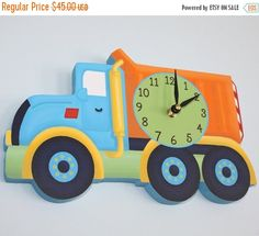 THANK YOU SALE Bright Construction Dump Truck by ToadAndLily