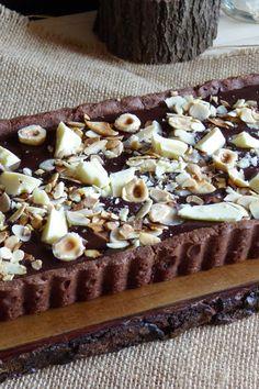 La Chef A: Tarta intensa de chocolate, almendras y avellanas