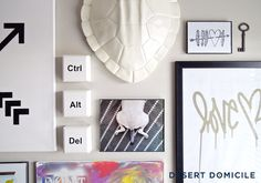7 Gallery Wall Tips & Tricks - I also like the idea of DIY keyboard wall art