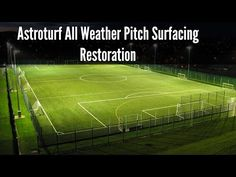 Astroturf All Weather Pitch Surfacing Restoration - YouTube