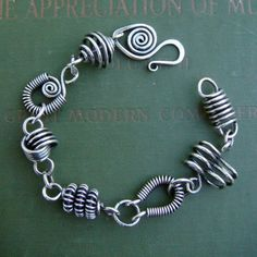 Collector's Club wirework bracelet by sweetbeadstudio on Etsy