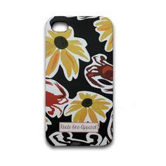Black Pennington Crab & Black Eyed Susan / iPhone 4/4S Case