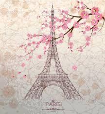 Vintage vector illustration of Eiffel tower on grunge background - stock vector Paris Torre Eiffel, Paris Eiffel Tower, Art Parisien, Image Paris, Paris Wallpaper, France Wallpaper, Grunge, Tower Design, Paris Images