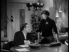Barbara Hale, Raymond Burr, Della Street & Perry Mason Black sweater w the DS necklace.... LONG before Sex in the City