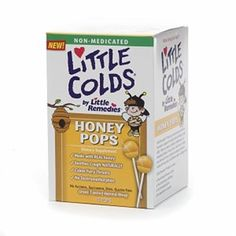 Buy Now Little Colds non-medicated honey pops, 10 ea. Soothes cough naturally and made with real honey | myotcstore.com - Ezy Shopping, Low Prices & Fast Shipping.
