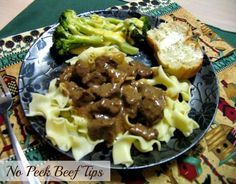 Mommy's Kitchen - Home Cooking & Family Friendly Recipes: No Peek Beef Tips {Amazingly Tender}