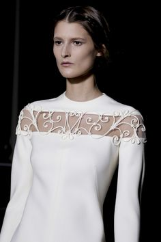 White garden fence details embellishments at Valentino Spring Summer Couture 2013 #HauteCouture #Fashion #HC