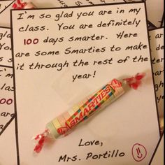 100th day - Of course in Canada our Smarties are made by Nestlé and are chocolate ;)