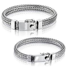 Solid 925 Sterling Silver Small or Big Men Bracelet - Made in Thailand - B 8.7 Fash Jewels http://fashjewels.com/product/solid-925-sterling-silver-small-or-big-men-bracelet-made-in-thailand-b-8-7/  Price: & FREE Shipping  #finejewelry