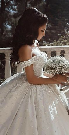 Lace Straps Ball Gown V-neck Long Wedding Dresses Online, Cheap Bridal Dresses, - New ideas Princess Wedding Dresses, Dream Wedding Dresses, Bridal Dresses, Wedding Gowns, Lace Wedding, Princess Bridal, Wedding Veil, Summer Wedding, Ball Dresses