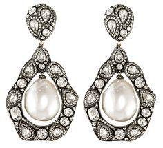 Gilan pearl and diamond drop earrings | JCK On Your Market