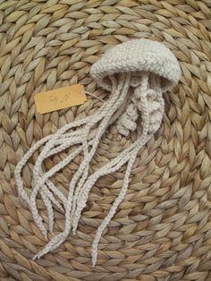 Crocheted jelly fish