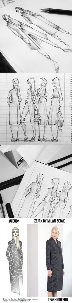 Fashion Sketchbook - fashion sketches; fashion design development // Milan Zejak - a Feud-winning fashion designer at Fashion Feud