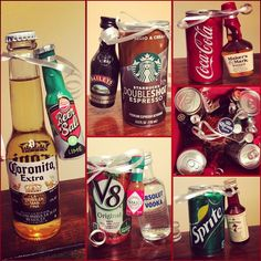 How to Make Creative Christmas Gifts for Teachers From Kids DIY alcohol gifts Tiny size Coronita and lime baileys and coffee Bloody Mary whiskey and Coke seven and seven Work dirty Santa party Creative Christmas Gifts, Teacher Christmas Gifts, Teacher Gifts, Creative Gifts, Christmas Crafts For Gifts For Adults, Mason Jar Christmas Gifts, Small Christmas Gifts, Diy Xmas Gifts, Holiday Gifts