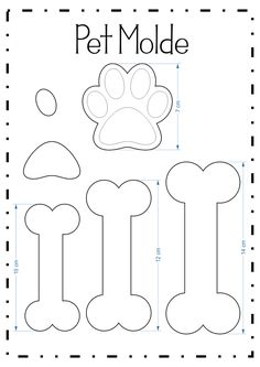 Kitty paw pencil tip (Pet molds) - Patchwork/nähen - Bolo Bolo Do Paw Patrol, Paw Patrol Cake, Paw Patrol Party, Paw Patrol Birthday, Dog Birthday, Dog Crafts, Felt Crafts, Puppy Party, Felt Patterns