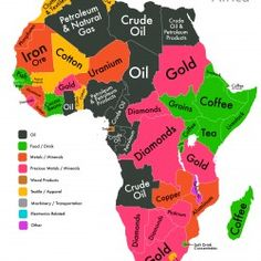 Most valued export by African country (Source: CIA Factbook)