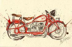 Deko 7 Tin Sign 30 x 20 cm Jawa Parking Only Motorbike//Car Truck