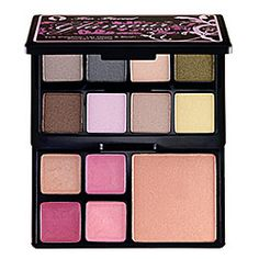 Too Faced Glamour to Go 2 Pocket Palette $23. 8 pretty shadows, a blush, and 4 lip colors. Just bought this today, perfect for the purse.