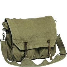 Vagabond Traveler Canvas Shoulder Bag