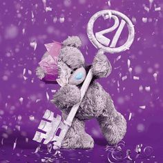 3D Holographic 21st Birthday Me to You Bear Card £2.99