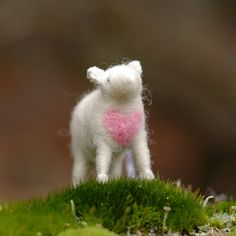 All You Need is Love - Valentine Lamb Ornament in Pink via Etsy.