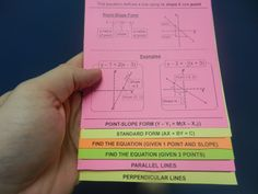 Teach the concepts of coordinates, slope, equations, and applications with this handy little guide. Math Teacher, Math Classroom, Teaching Math, Classroom Ideas, Interactive Student Notebooks, Math Notebooks, Math Strategies, Math Resources, 8th Grade Math