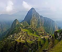 Machu Picchu in Peru. Lost city of the incas