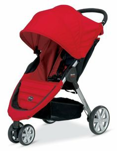 Britax B-Agile Stroller  Red:   Includes a multitude of features that provide safety and comfort for your child and convenience for you. Its one-handed folding design allows you to pack the stroller in seconds. The supportive seat features a five-point harness system that is both comfortable and secure. It adjusts to accommodate children even as they grow bigger. This stroller includes an extra-large canopy, comfort-ride suspension, and ample storage space.   http://amzn.to/redbagilestroller
