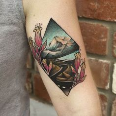 Vivid Landscape Tattoo by Shirmy