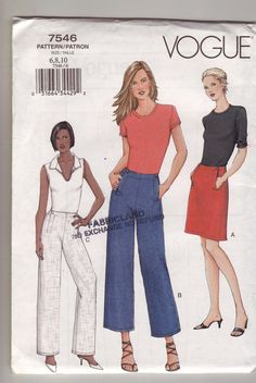 Vogue 7546 Misses ALine by Noahslady4Patterns on Etsy, $4.75