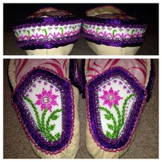 Available! Women's size 7 haudenosaunee raised beadwork moccasins! Email me at francour21@gmail.com if interested - thanks!