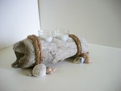 Driftwood Candle Holder Votive Natural by TheWoodworkingShop