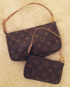 """60dfabb3fc02 My Shallow Treasures on Instagram  """" Newtome Preloved Louis Vuitton mini  pochette and pochette accessoires✨ Been liking monogram canvas lately"""""""