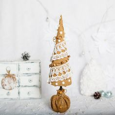 Christmas tree/Textile designer Christmas by TanyaLimaHandmade
