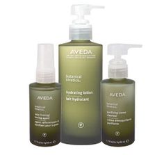 Aveda Skin Products..I love the green glass bottles!