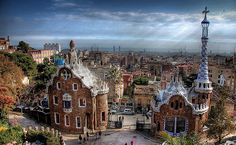 Park Guell, Barcelona ~ Been to Barcelona but stayed on the water. Would love to see this part of the city