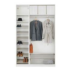 PAX Garderobe mit Innenorganisatoren - IKEA PAX wardrobe with interior organizers - IKEA