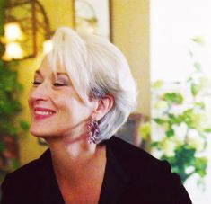 Short Grey Hair, Short Hair Styles, Vintage Hairstyles, Cute Hairstyles, Maryl Streep, Mamma Mia, Miranda Priestly, Devil Wears Prada, Haircut And Color