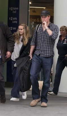 Prince Harry arrives at King Cross Station with Cressida Bonas after spending the weekend in Northumberland, June 2013