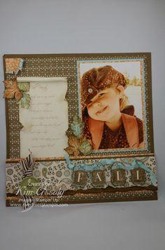 Darling Fall Scrapbook Page...