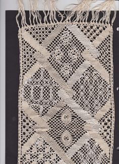 Scarf. Tablecloth crochet cotton. Pattern published in Lace Express