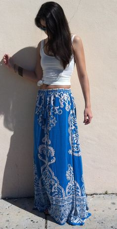 The Royal Gardens Maxi Skirt